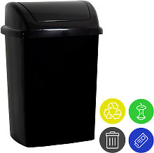 Cubo de basura de 24L con tapa abatible para