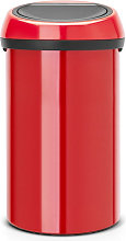 Cubo de basura de cocina 60l rojo - 402487 -
