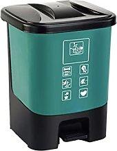 Cubo de basura de plástico al aire libre Pedal de