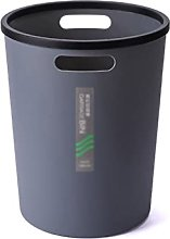 Cubo de basura de plástico redondo sin tapa con