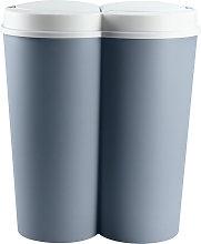 Cubo de basura Doble 50L 2x25L cubo de papel cubo