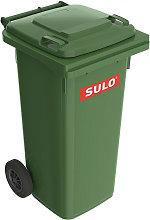 Cubo de basura grande 120l HDPE verde, móvil