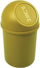 Cubo de basura H375xØ214mm 6l amarillo - Helit