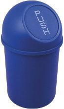 Cubo de basura H375xØ214mm 6l azul HELIT