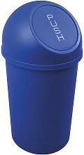 Cubo de basura H490xØ253mm 13l azul HELIT