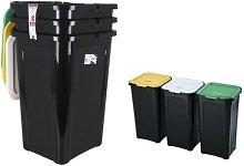 Cubo de Basura para Reciclaje 44 L Negro (38,5 x
