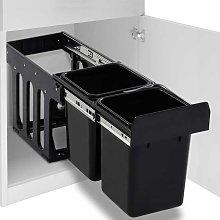 Cubo de basura para reciclaje extraíble cierre