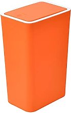 Cubo de basura rectangular con tapa, contenedor de