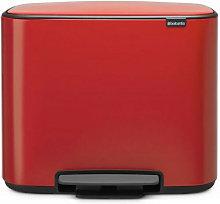 cubo de basura rojo pasión 36l con pedal - 121401