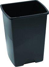 Cubo de basura sin tapa 50L, negro