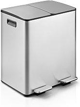 Cubo de cocina doble Plata, Cubo Doble Antiolor,