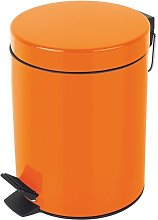 Cubo de pedal Metal SYDNEY 5L Naranja - Naranja -
