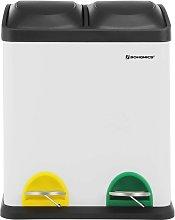 Cubo de Reciclaje, Residuos de 30 Litros, 2 Cubos