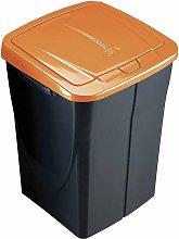 Cubo Ecobin 45L. Con Tapa Naranja