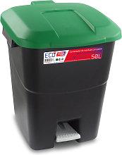 Cubo Pedal Eco Tapa Verde 50 Litros