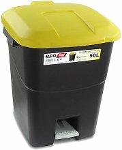 Cubo Pedal Ecologico Amarillo 50 L