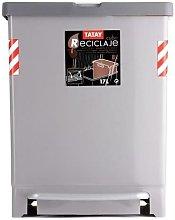 Cubo Pedal Recicl. 17 8L. Gri. 1101601