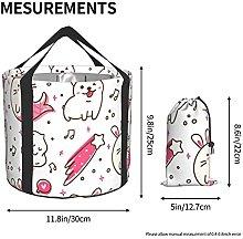 Cubo plegable de almacenamiento de agua para