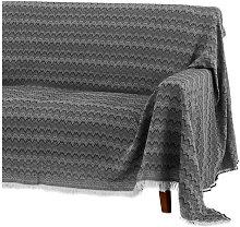 Cubre sofá negro clásico de algodón y
