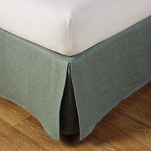 Cubresomier 180x200 de lino lavado verde jade