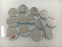 Cuentas de espejo redondas para coser, ideales