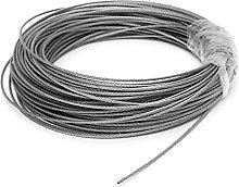 cuerda de alambre de acero, 1 UNIDS 50M / 100M 304