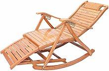 CUIJU Tumbona plegable de madera con reposabrazos