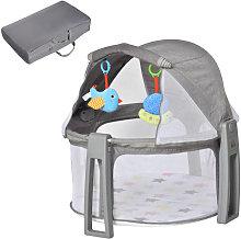 Cuna portátil para bebés gris HomCom