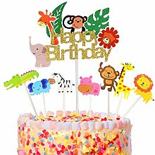 Cupcake Topper Set,adorno de pastel de bebe,Animal