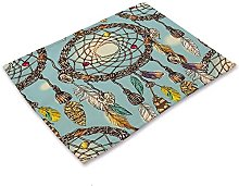 DAGUAI Coloque las alfombras 4 unids colorido