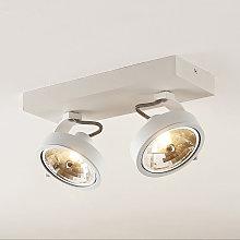 Dagur foco de techo, dos luces blanco - Arcchio