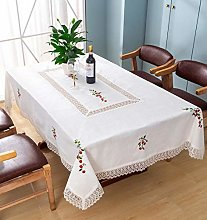 Dalina Textil Mantel de Mesa con Bordado Cerezas
