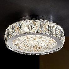 Dana lámpara LED de techo con cristales de vidrio