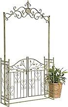 DanDiBo Pérgola con puerta de metal, 130 cm de