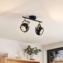 Dawid foco de techo LED en oro, 2 luces - Lindby