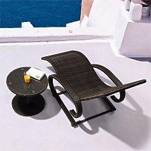 Daybreak Mecedora Tumbona Lounge marrón aluminio