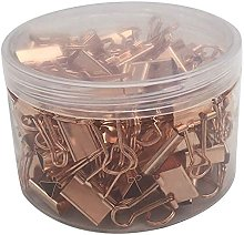 DealMux 100 Uds 19Mm abrazadera de oro rosa Clips