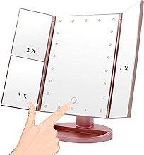 DealMux Espejo de tocador con luz Espejo de mesa