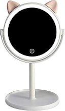 DealMux Espejo de tocador, luz LED Espejo de