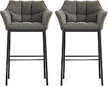 DealMux juego de 2 sillas de bar con almohadillas