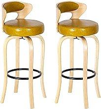 DealMux - Juego de 2 sillas de bar con respaldo
