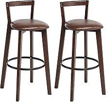 DealMux - Juego de 2 sillas de bar, funda de
