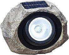 DealMux Luz de piedra solar LED Linterna de resina