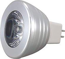 DealMux MR16 3W 16 colores cambian RGB LED Foco de