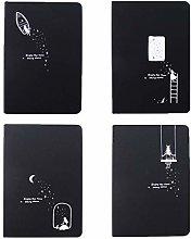 DealMux Notebook, Starry Sky Negro Cartón