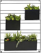 Decoración de pared 3 plantas artificiales en