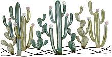 Decoración de pared cactus de metal 136x68