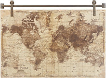 Decoración de pared con impresión de mapamundi