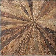 Decoración de pared de madera reciclada 100x100