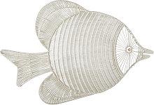 Decoración de pared de pez de macramé 119x78
